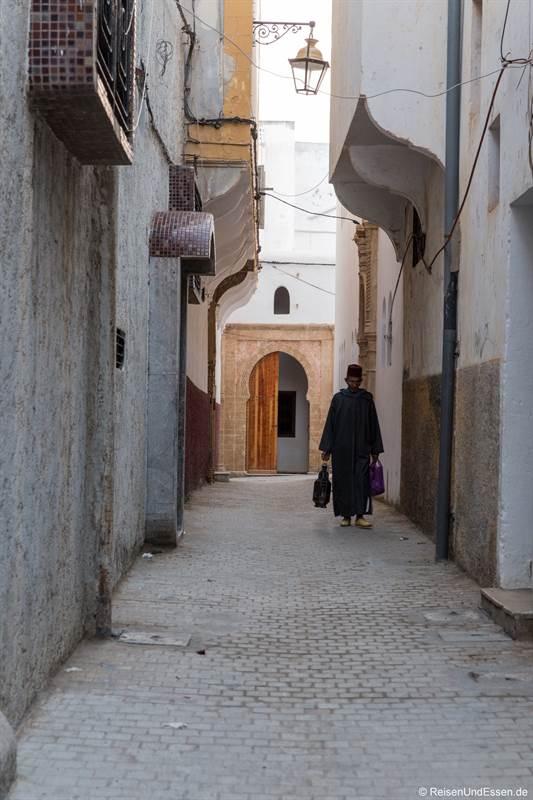 Gasse in der Medina in Rabat