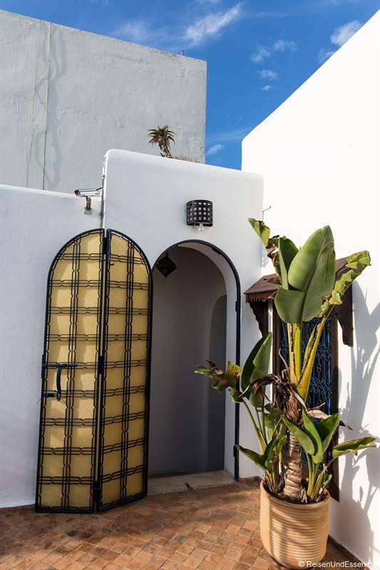 Zugang zur Dachterrasse im Riad Dar Soufa in Rabat