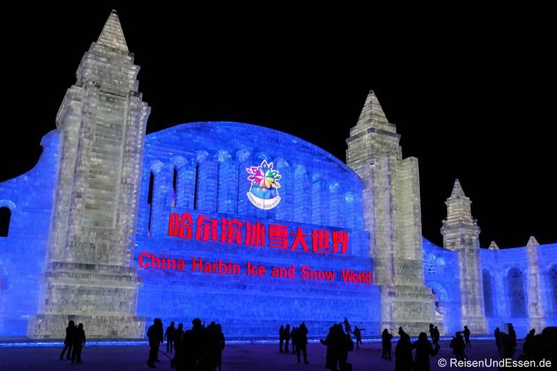 Eingang zum Eisfestival in Harbin