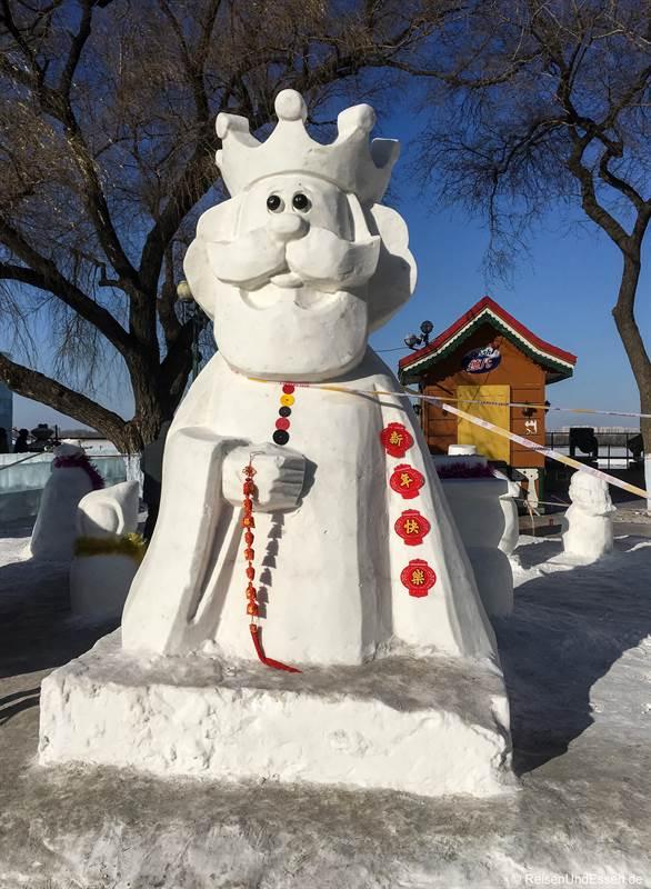 Figur beim Schneefestival in Harbin