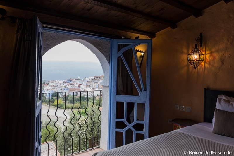 Zimmer mit Aussicht im Hotel Dar Chefchaouen