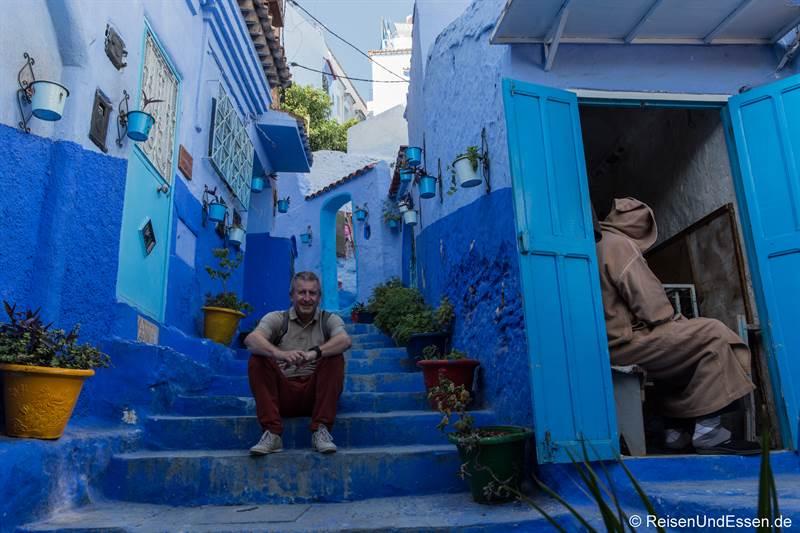 Pause in der blauen Stadt Chefchaouen