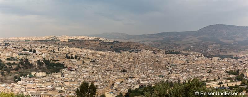 Blick auf die Altstadt von Fes von der Zitadelle Borj Sud