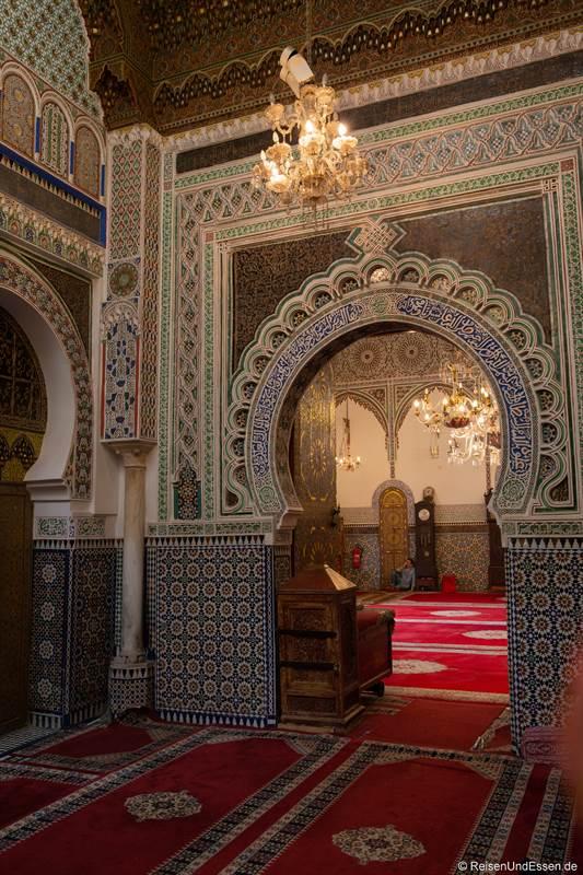 Blick in das Mausoleum von Moulay Idriss