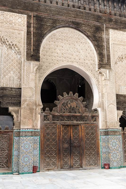 Tor in der Islamischen Hochschule in Fes