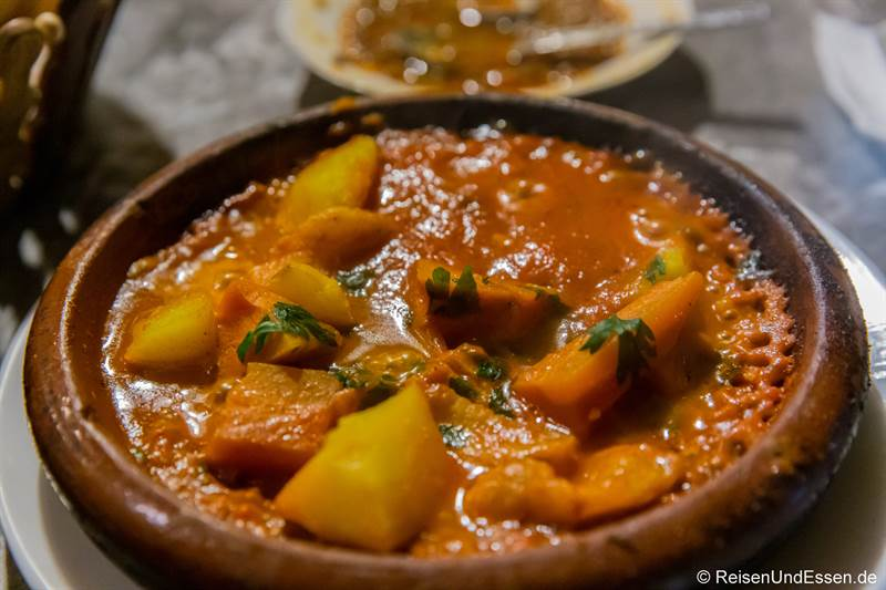 Gemüse-Tajine in einem Restaurant