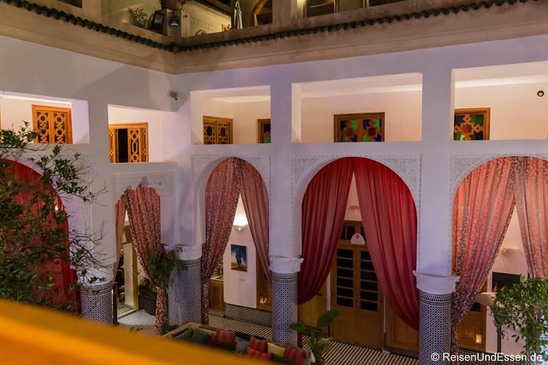Blick in die Lobby im Riad Amor