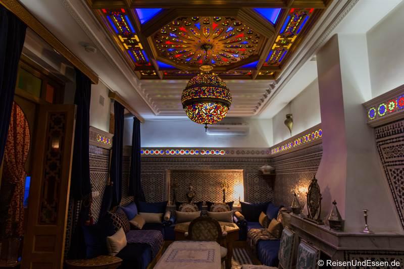 Frühstücksraum im Riad Amor