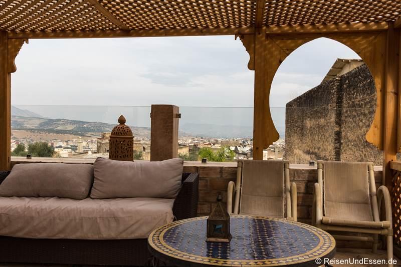 Terrasse im Riad Amor