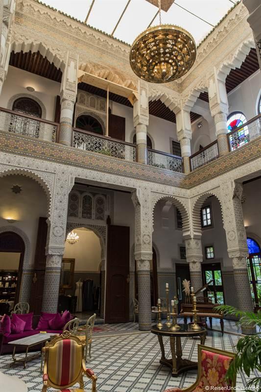 Lobby im Riad Fes