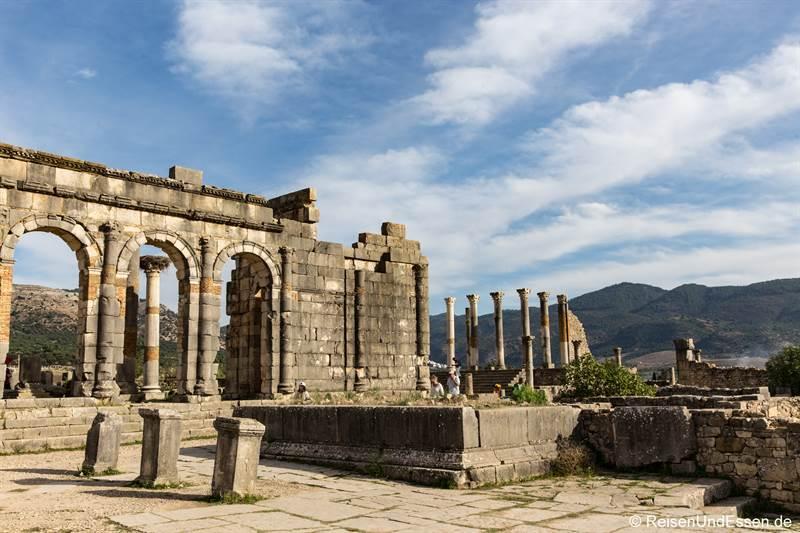 Basilika und Kapitol in Volubilis