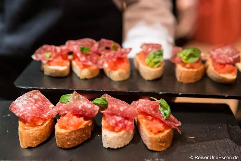Salami als Appetizer - Italienische Salumeria