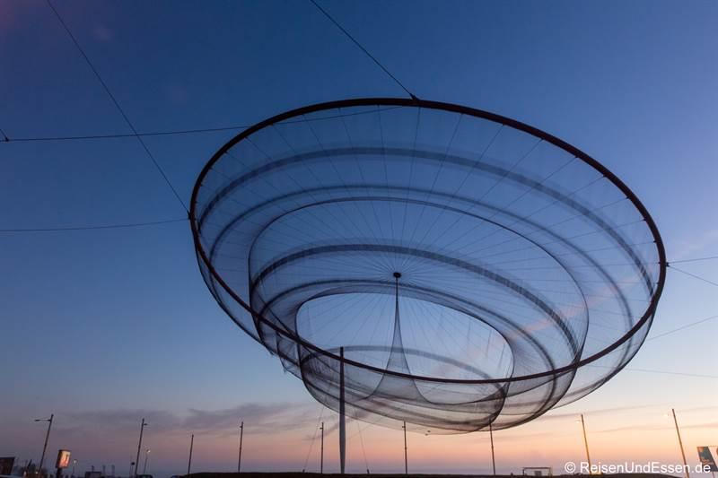 Kunstwerk Anemona am Meer bei Matosinhos