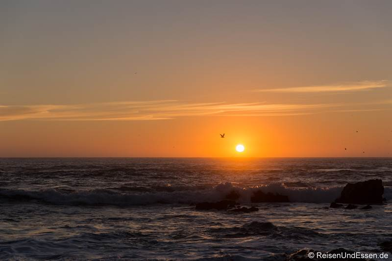 Sonnenuntergang am Meer bei Porto