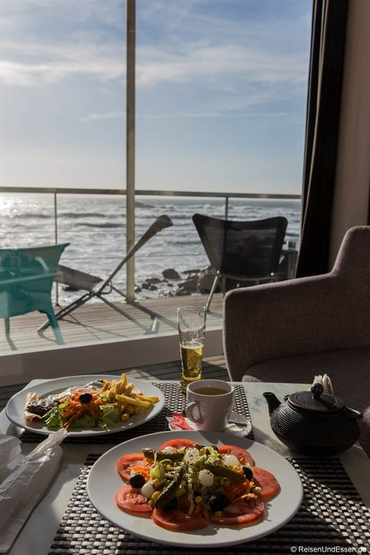 Essen im Praia dos Ingleses
