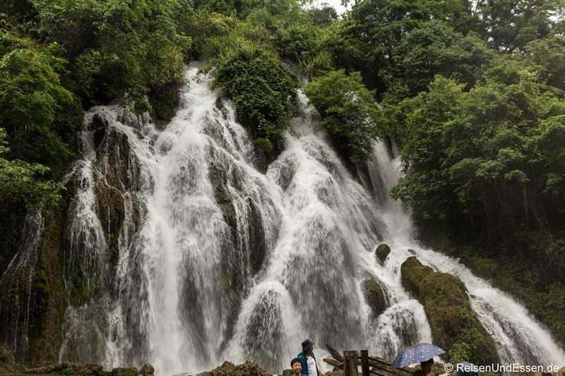 Laya Wasserfall im Naturpark Xiaoqikong in Libo