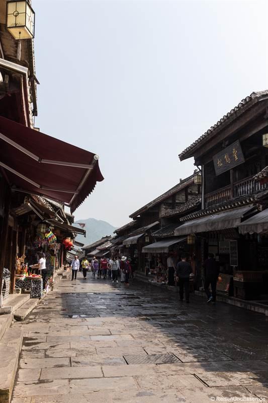 Strasse in Qingyan in der Provinz Guizhou