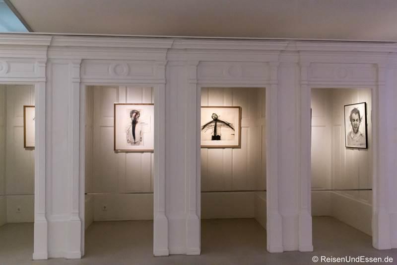 Ehemalige Umkleidekabinen im Arnulf Rainer Museum in Baden bei Wien