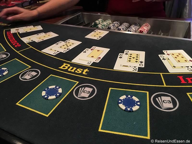 Black Jack im Casino Austria in Baden bei Wien