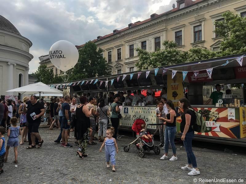Eisstände beim Gelato Festival