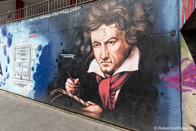 Graffiti von Beethoven in Bonn