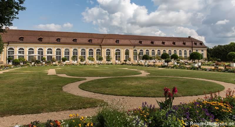 Orangerie im Hofgarten in Ansbach