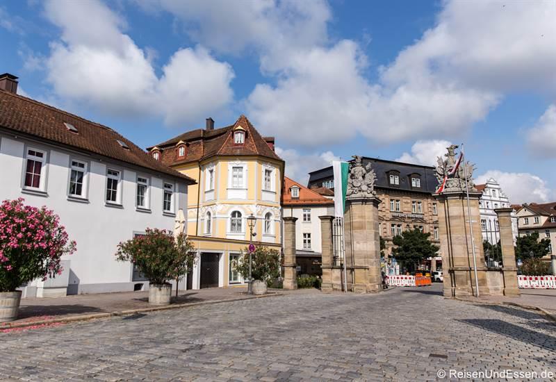 Einfahrt in die Altstadt von Ansbach