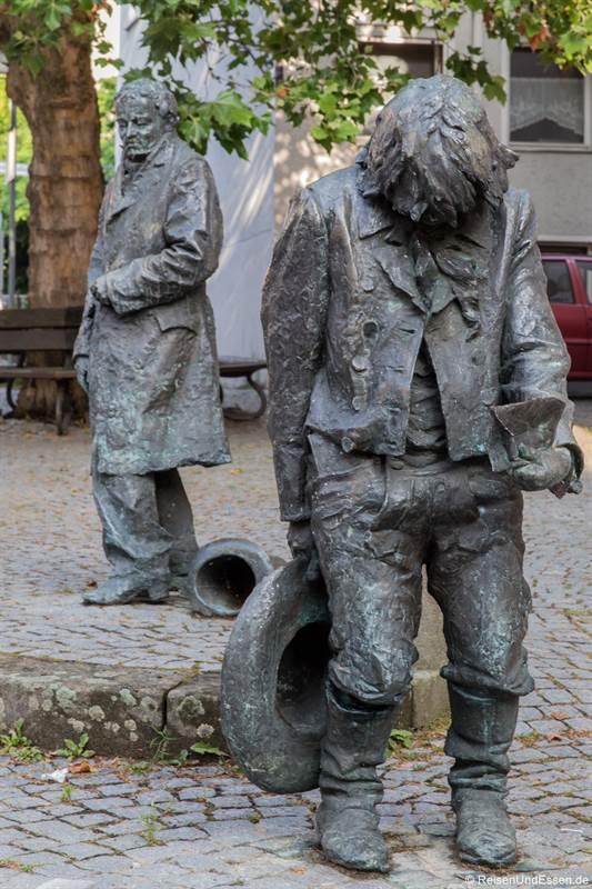 Kaspar Hauser Denkmal in Ansbach