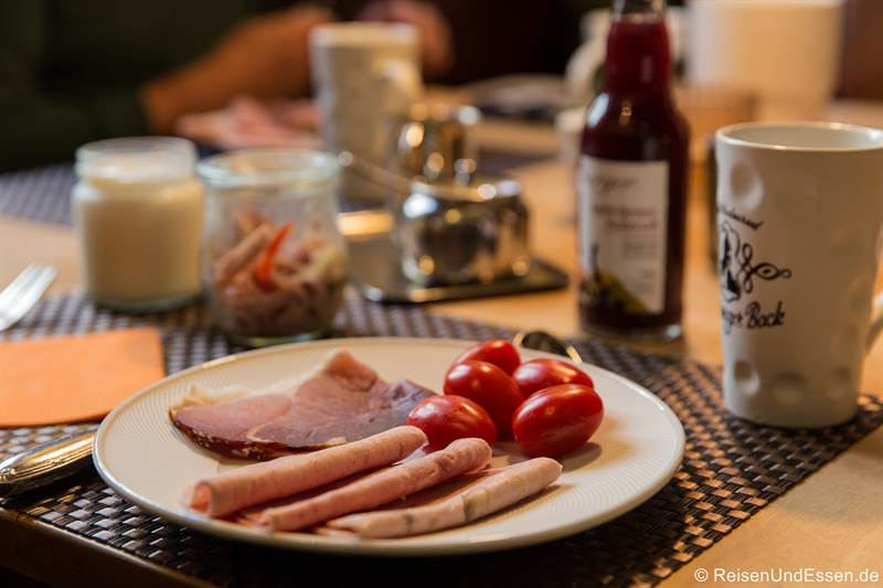 Frühstück im Hotel Schwarzer Bock in Ansbach