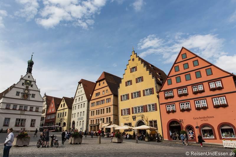 Marktplatz und Ratstrinkstube - Sehenswürdigkeiten in Rothenburg
