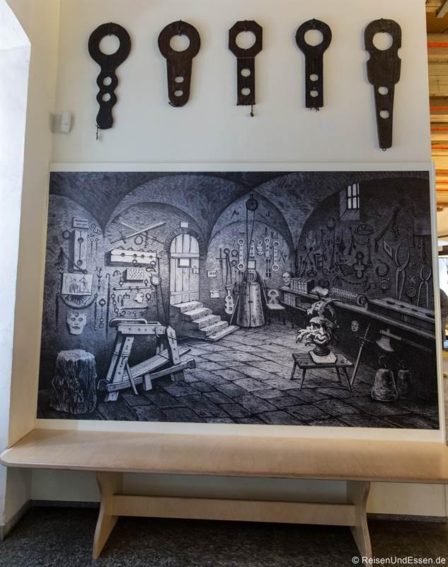 Folterraum im Mittelalterlichen Kriminalmuseum - Tipps für Rothenburg