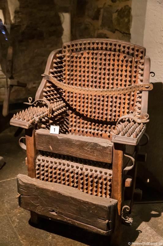Folterstuhl im Mittelalterlichen Kriminalmuseum