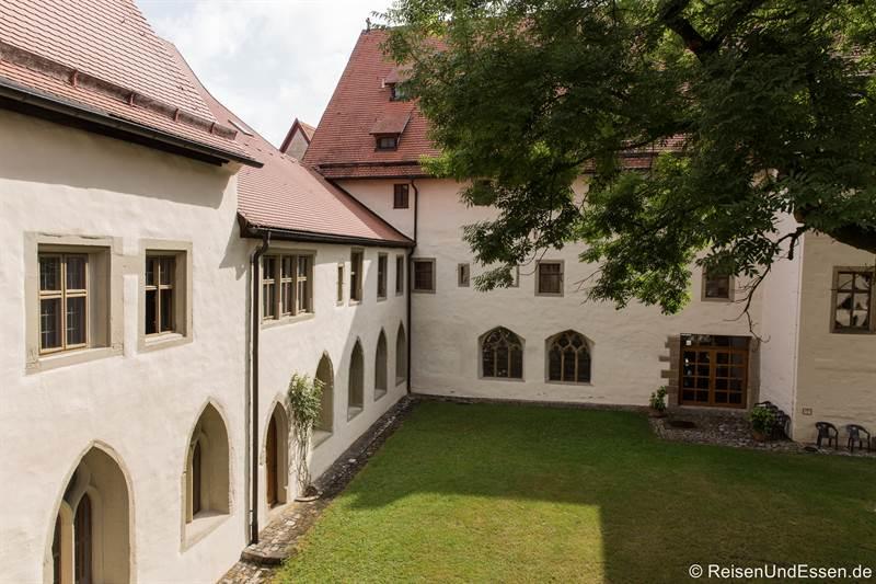 Innenhof des ehemaligen Klosters und jetzigen Rothenburg Museum
