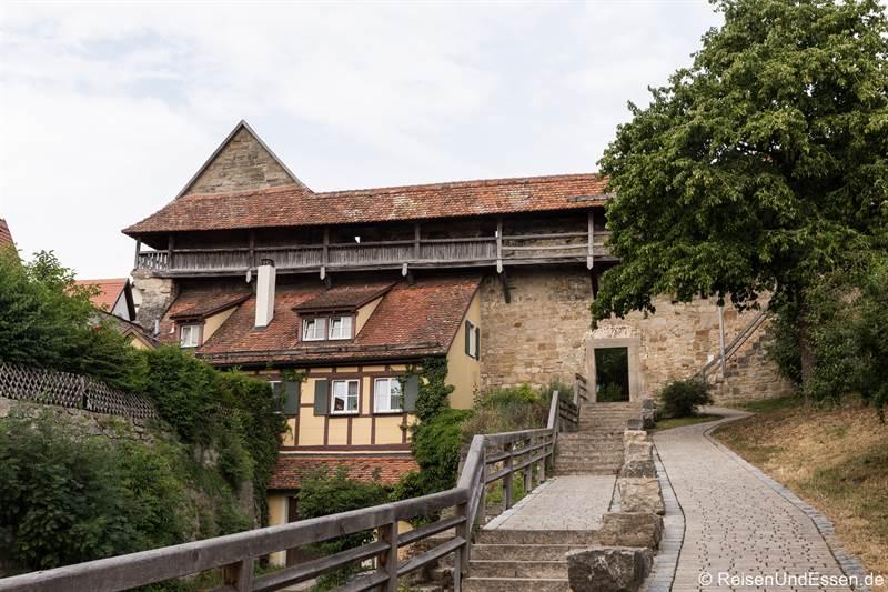 Aufgang zum Turmweg - Tipps für Rothenburg