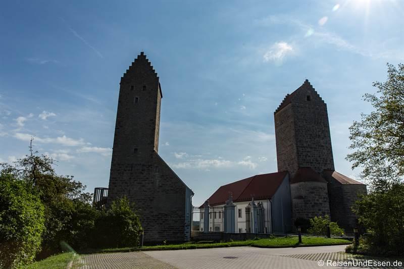 Türme von Schloss Hirschberg