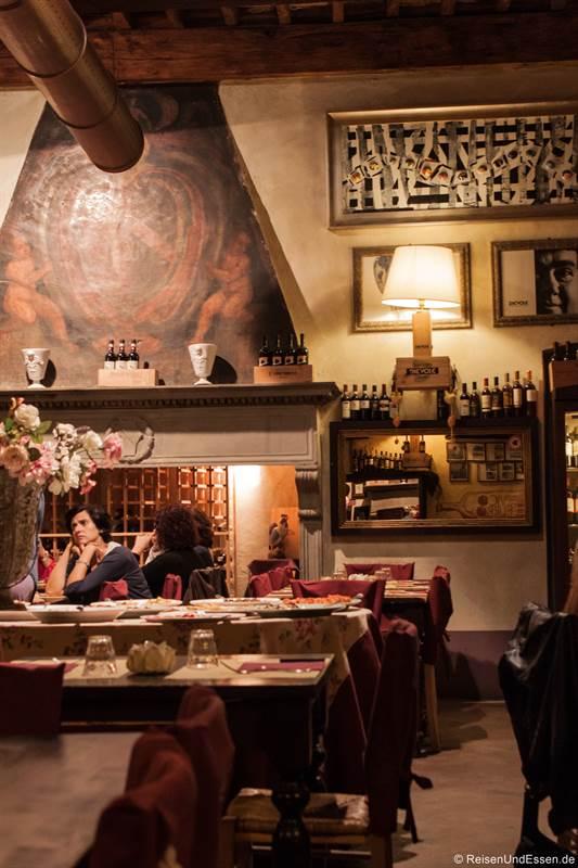 Pizzeria in Vico d'Elsa in der Toskana