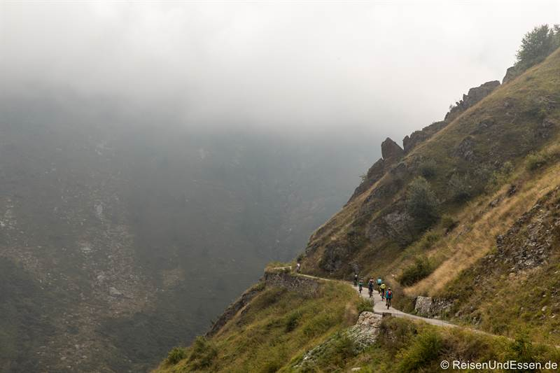 Passstraße zum Colle Fauniera im Piemont