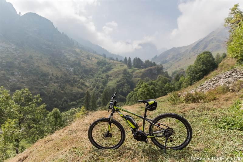 E-Bike für die Tour auf den Colle Fauniera im Piemont