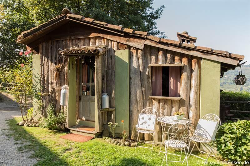 Hütte bei der Cascina Pistone in Langhe im Piemont