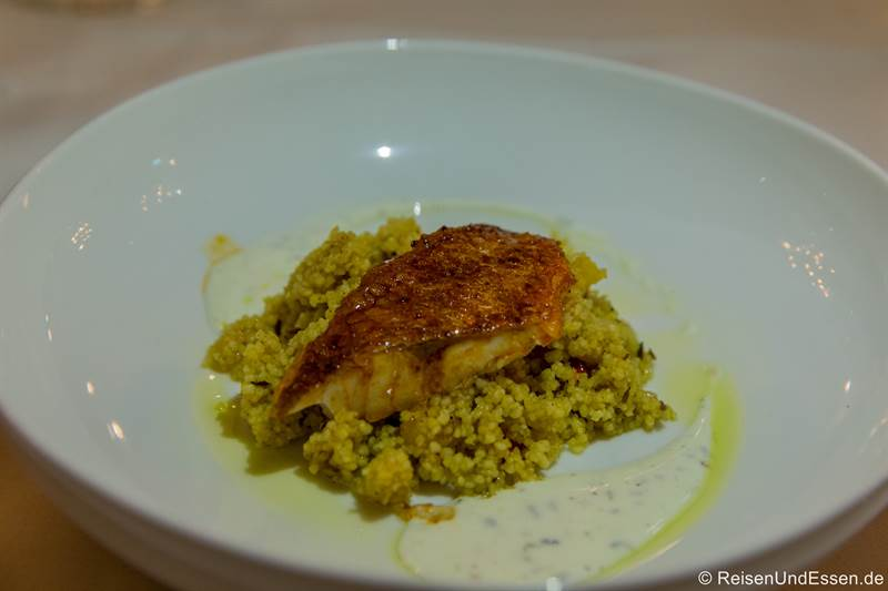 Orientalischer Couscous beim Dinner im Restaurant Esszimmer in Regensburg