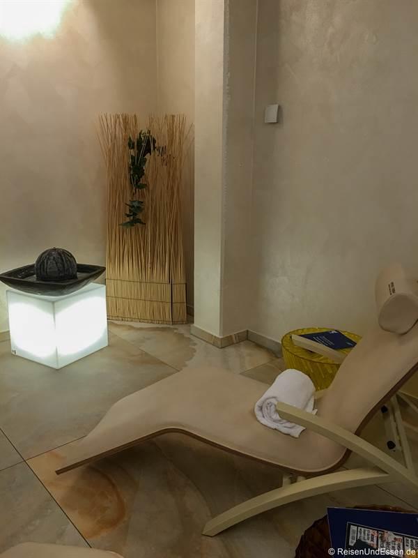 Ruhebereich bei der Sauna im Mercure Hotel in Regensburg