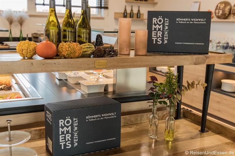 Buffet im Sonnenhotel Weingut Römmert in Volkach