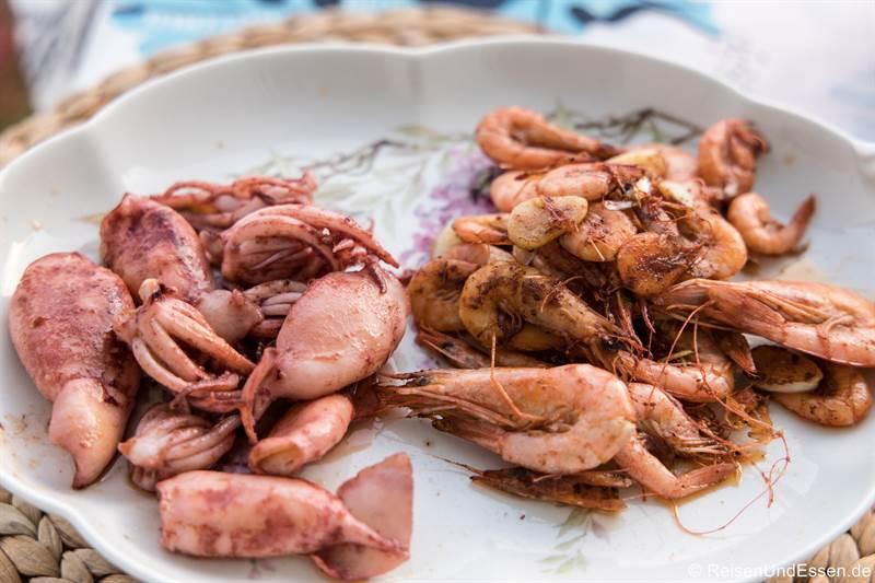 Meeresfrüchte zum Abendessen in der Ferienwohnung in Amalfi
