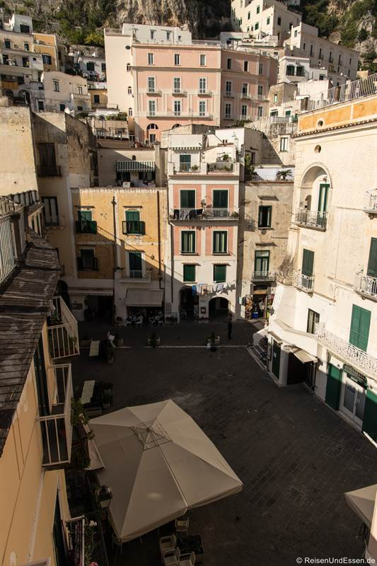 Piazza Umberto in Atrani an der Amalfiküste