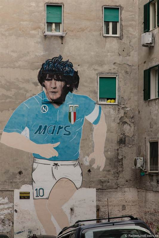 Graffiti von Maradona in Neapel