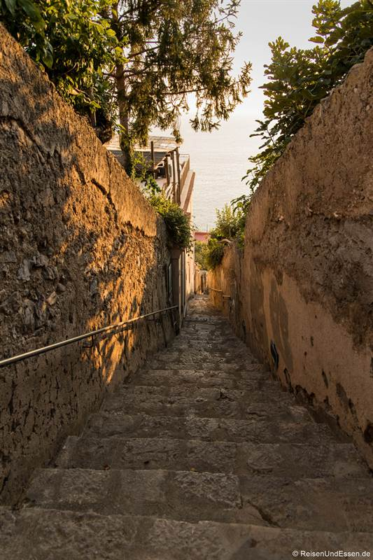 Treppen in Praiano an der Amalfiküste