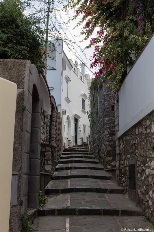 Treppen vom Hafen nach Capri