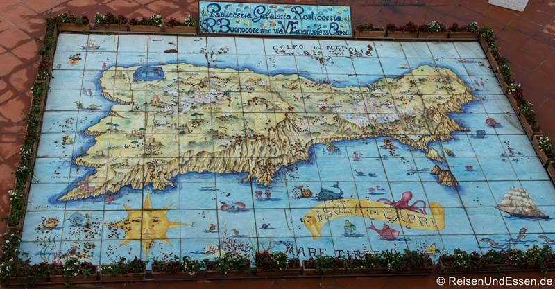 Karte von Capri