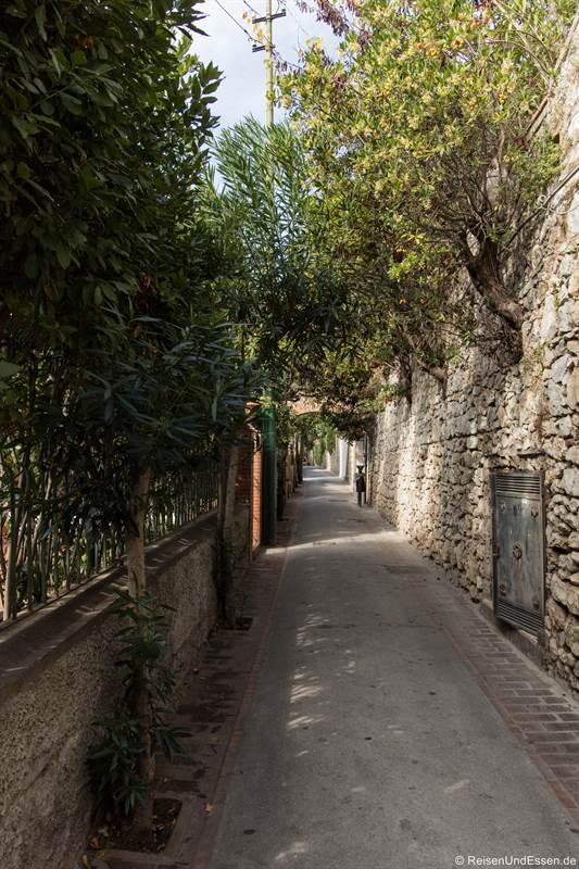 Weg von Capri zum Aussichtspunkt Faraglioni