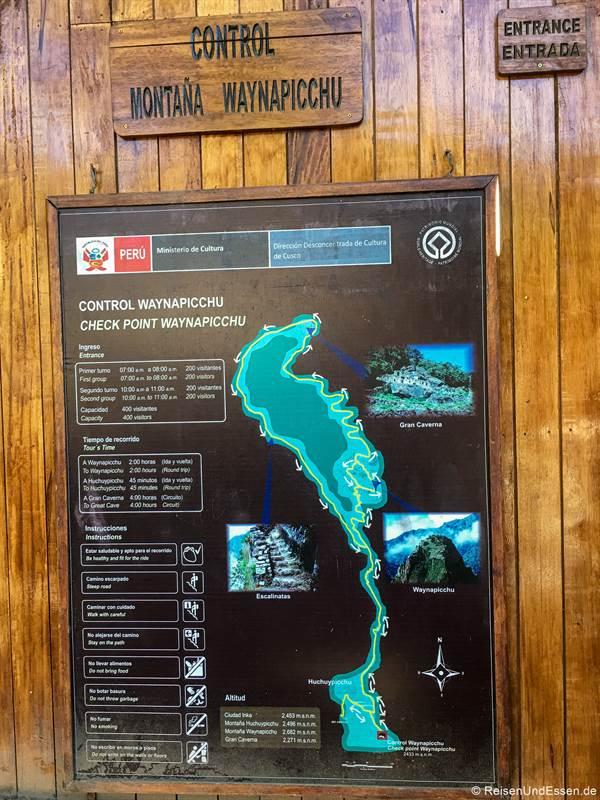 Checkpoint beim Huayna Picchu mit den Wegen